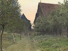 Adolf Noether (1855-1943), Watercolor, Farmhouses, 1907