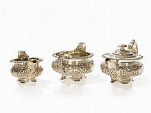 George IV 3-Piece Silver Tea Set by Bateman, London 1824/32