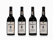 4 Bottles 1977 Warre´s Vintage Port