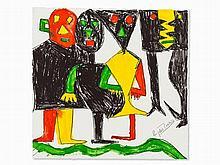 Eugène Ionesco, Lithograph, Aboard the Ship of Fools, 1983