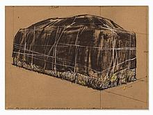 Christo, Serigraph, 'Packed Hay' Project in Philadelphia, 1973
