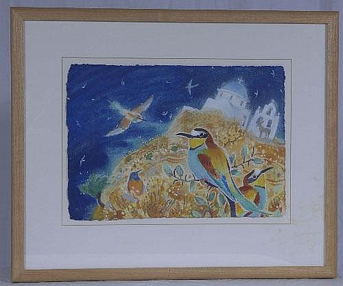 Original water colour of a Kingfisher by Andrew