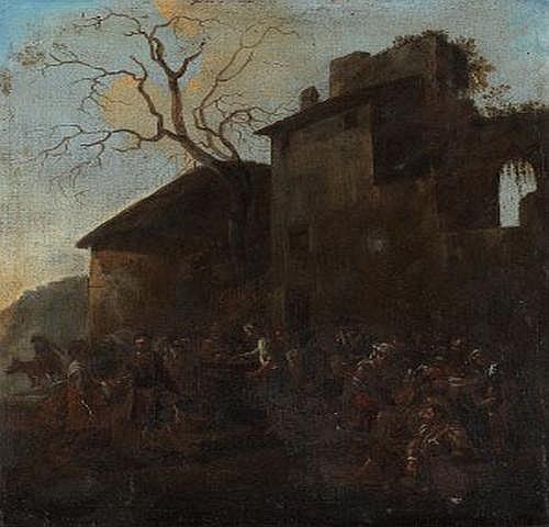 Jan Miel 1599-1663. Värdshusscen. Olja på duk, 68