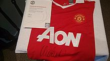 Signed Manchester United Shirt, by Vidic
