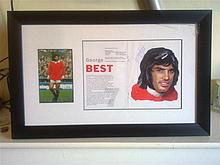 George Best Framed Picture