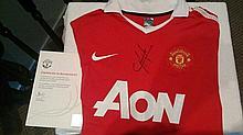 Chicharito Signed Manchester United Shirt