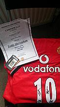 Signed Manchester United Shirt - Teddy Sheringham