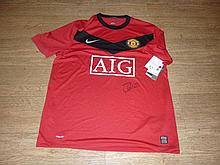 Signed Manchester United Shirt by Johnny Evans
