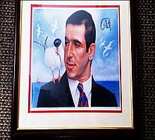 Signed picture of Eric Cantona and the Seagull