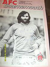 Signed George Best programme VERY RARE - Last season in League Football