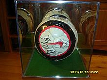2006/07  Manchester United Team Signed Football with Glass Case