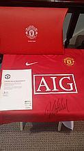 Darren Fletcher signed united shirt