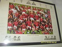 Legends of Old Trafford Framed Print