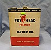 Fox Head premium motor oil can two gallon size