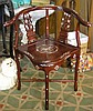Antique style rosewood side chair with mother of pearl inlay