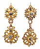 Gold and diamonds earrings, from the second half of the 18th Century Gold and r