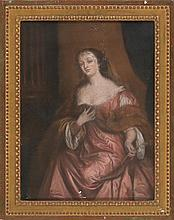 """19th century English school. Female portrait """"a lo divino"""". Pastel on paper stuck to canvas. Following model by Sir Peter Lely. 61X45,6"""