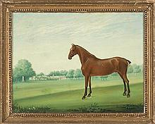 Escuela inglesa del siglo XIX Caballo Óleo sobre lienzo