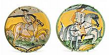 Pair of Italian plates from Montelupo