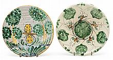 Two Italian plates from Montelupo, 18th Century