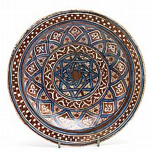 Manises plate in the style of Málaga, early 15th Century