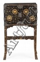 Cabinet japonés en madera lacada y con aplicaciones de nacar y marfil tallado, del siglo XIX