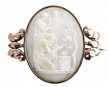 An Italian cameo brooch, from the first quarter of the 19th Century