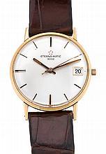 Eterna-matic, 3000, a gold gentleman's wristwatch