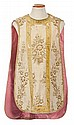 Three Spanish silk chasubles, first third of the 20th century.