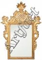 Espejo español con marco estilo Carlos III en madera tallada y dorada, del siglo XIX