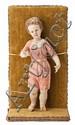 Escuela española del siglo XVIII Niño Jesús Escultura en madera tallada, policromada y dorada