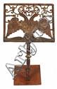 Atril español en hierro forjado y recortado, del siglo XVII