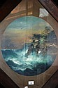 M Dakin pair of oil on boards, seascapes, signed