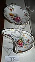 2 Royal Crown Derby pin dishes, 'Derby Posies'