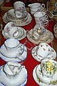 Various cups, saucers, plates incl. Colclough, etc