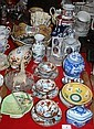 Various, bowls, cups, saucers, vases, figurines