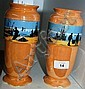 Pair of Lancaster & Sons vases, Dresden works, see