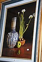 P. Frankel, print, still life, Dutch vase, apple &