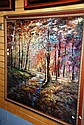 Lge gilt framed print with an impressionist scene,