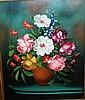 G De Simone,. Oil on canvas, floral still life,