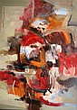 Paco Gorospe oil on canvas abstract composition