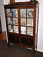 Antique mahogany 4 door display cabinet 2 glazed