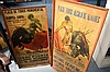 2 x vintage Spanish bull fighting posters framed,