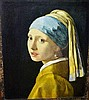 Nicely framed Johannes Vermeer print, 'Girl with