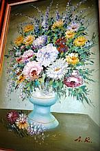 Artist unknown, still life - flowers in a vase,