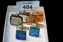 Job lot of 3 x cuff links to incl. a pair with