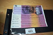 6 x $5 notes incl. 4 x Coombs/Randall, 1 x