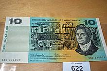 Coombs/Wilson $10 note EF
