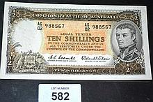 Commonwealth of Australian 10 shilling note