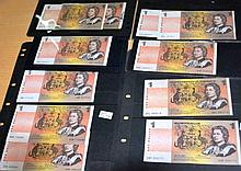 Collection of 11 assorted Australian $1 paper